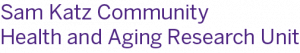 Sam Katz Community Health and Aging Research Unit Logo