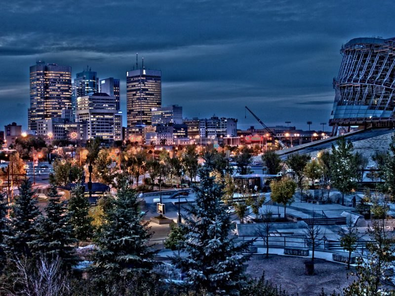 Winnipeg Manitoba city view.