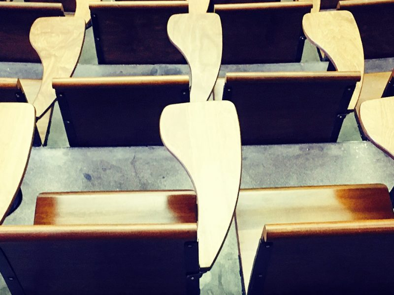 Photo of auditorium seats
