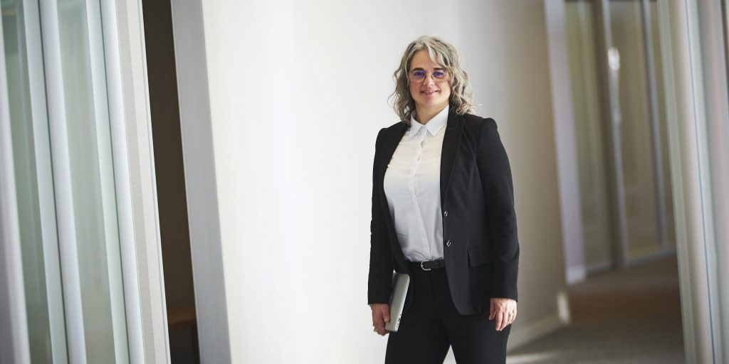 Shona Clarke in Calgary office