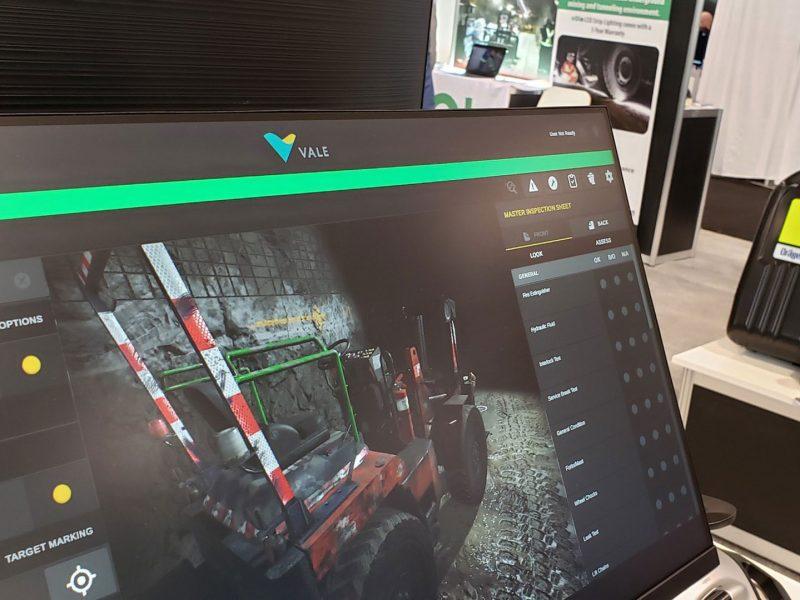 Computer screen showing equipment eLearning module