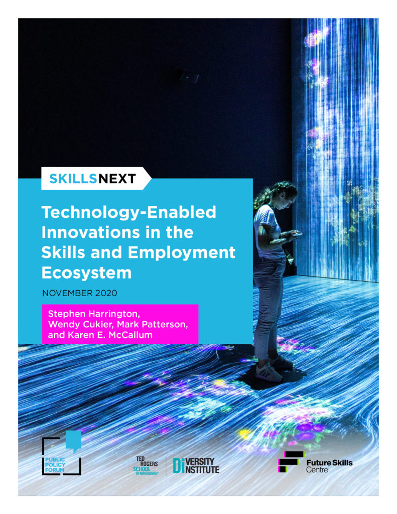 Report cover of the Skills Next report Technology-enabled innovations in the skills and employment ecosystem