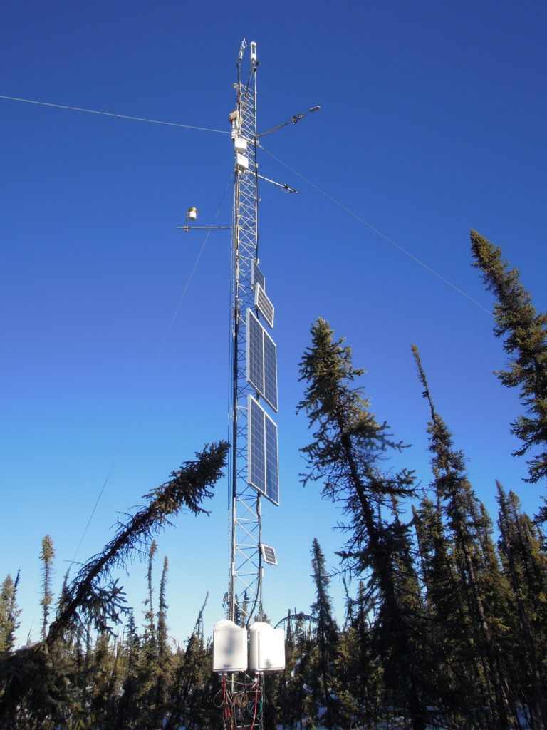 Image of an eclipse eddy covariance) Tower network.