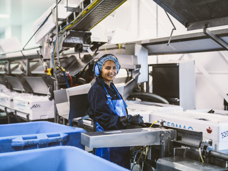 Person working in food facility