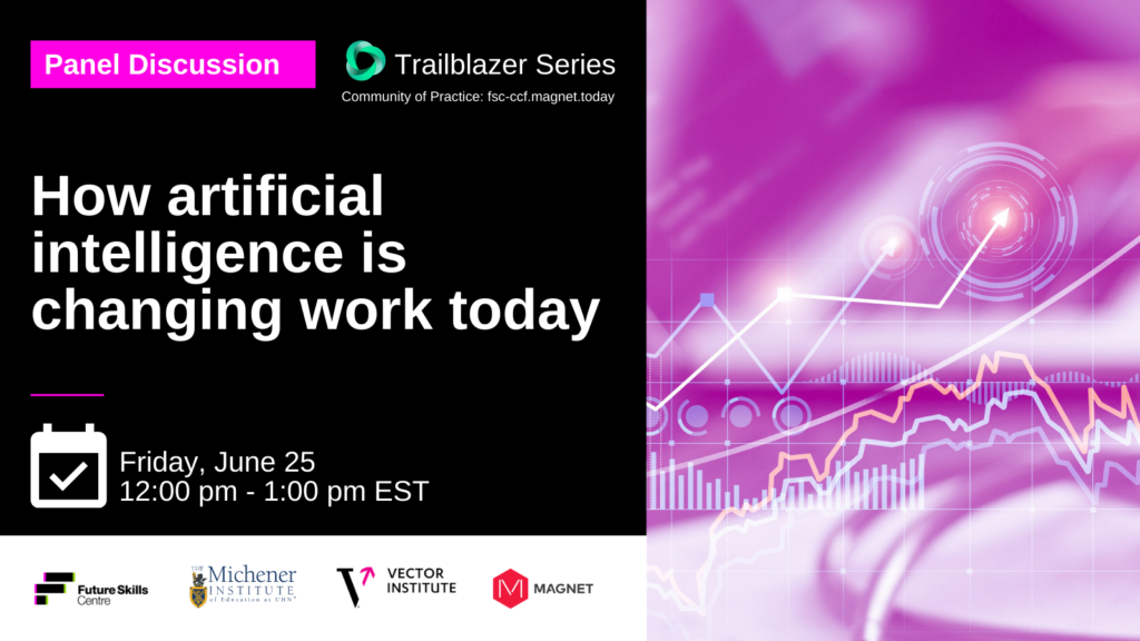 """Promo graphic for Trailblazer Event with the title """"How artificial intelligence is changing work today"""""""