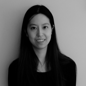 black and white headshot of Michelle Chang Pow